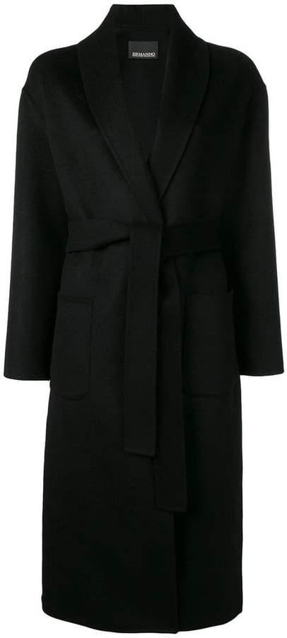 Ermanno Ermanno belted single breasted coat