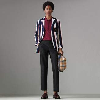 Burberry Slim Fit Striped Cotton Blend Club Blazer
