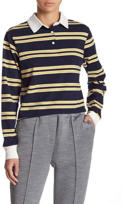 GOOD LUCK GEM Rugby Polo Striped Shirt