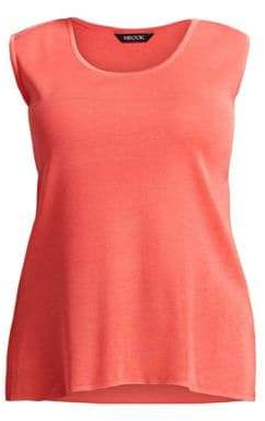 Misook Misook, Plus Size Misook, Plus Size Women's Knit Tank Top - Autumn Blaze - Size 1X (14-16)