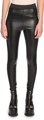 Sacai Seamed Faux-Leather Leggings