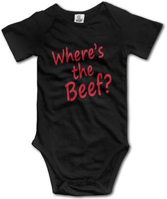 Rise Where's The Beef Slogan Novelty Funny Baby Onesie Bodysuit