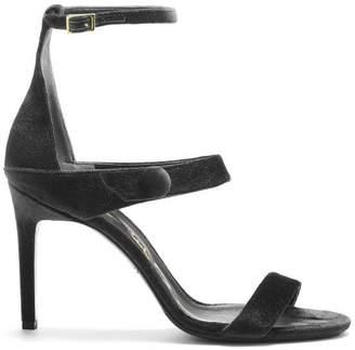 Oscar de la Renta Black Velvet Lex Sandals