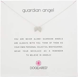 Dogeared Reminders Guardian Angel Dipped Sterling Silver Angel Wings Charm Necklace