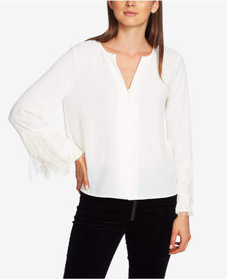 1 STATE 1.state Fringed-Sleeve Blouse