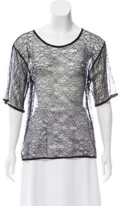 House of Holland Sheer Lace Top