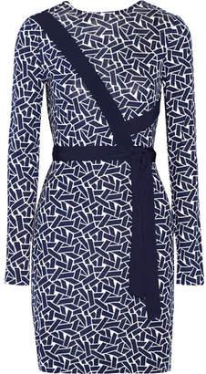Diane von Furstenberg - Vienna Reversible Printed Silk-jersey Wrap Dress - Navy $470 thestylecure.com