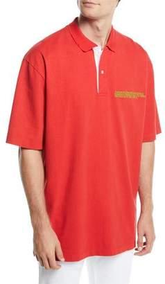 Calvin Klein Men's Oversized Polo Shirt with Embroidered Logo