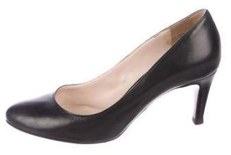 Prada Leather Round-Toe Pumps