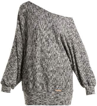 PEPPER & MAYNE Graces off-the-shoulder fleece sweater