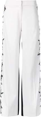 Oscar de la Renta embroidered side seams trousers