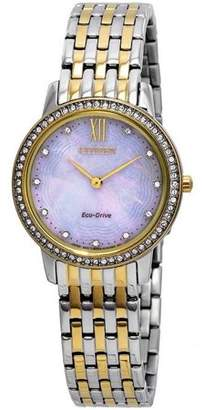 Citizen Eco-Drive Silhouette Crystal Ladies Watch EX1484-65D