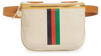 Clare Vivier Stripe Perforated Leather Fanny Pack