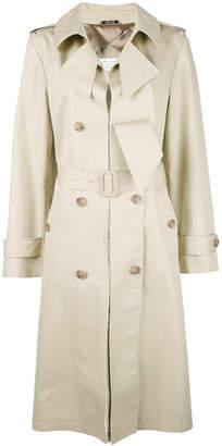 Maison Margiela cut-out lapel trench coat