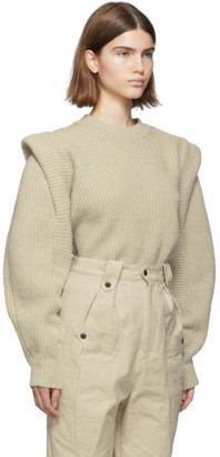 Isabel Marant Beige Wool and Cashmere Knit Bolton Sweater