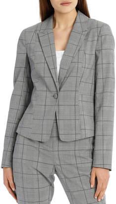 Miss Shop Abi One Button Blazer - Check