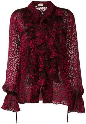 726c6144b613 Saint Laurent sheer leopard print shirt