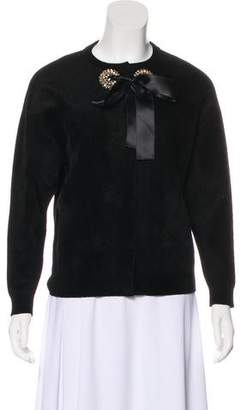 Alexander McQueen Embellished Long Sleeve Cardigan w/ Tags