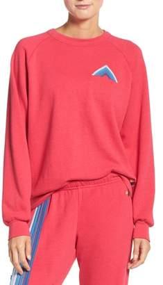 Aviator Nation Mountain Stripe Crewneck Sweatshirt