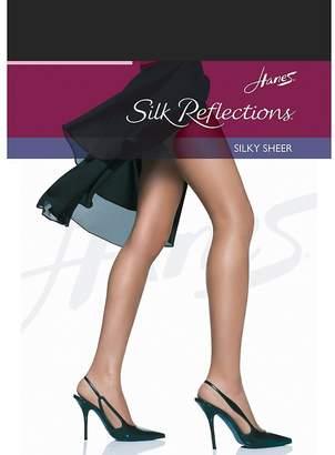 Hanes Women`s Set of 3 Silk Reflections Non-Control Top RT Pantyhose CD