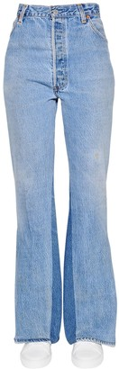 RE/DONE Slit Flared Cotton Denim Jeans