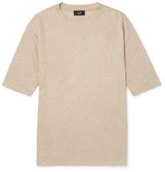 Dunhill Linen-Jersey T-Shirt - Sand