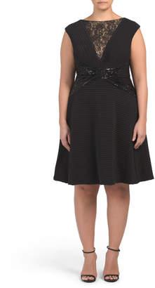 Plus Pintuck Embellished Dress