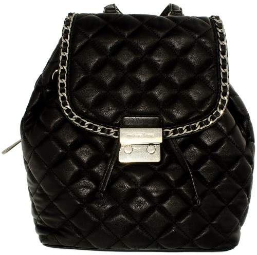 Michael Kors Carine Medium Quilted-Leather Backpack - Black - 30T6TCCB2L-001 - BLACK - STYLE