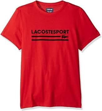 Lacoste Men's Short Sleeve Jersey Tech Graphic T-Shirt