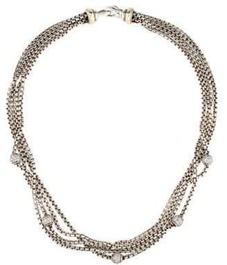 David Yurman Diamond Multi Strand Collar Necklace silver Diamond Multi Strand Collar Necklace