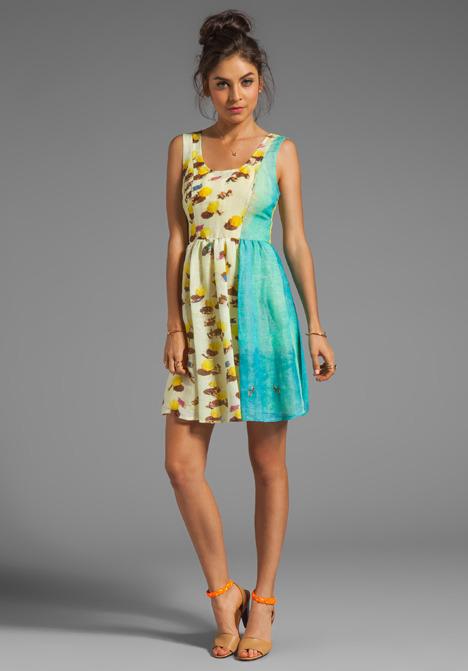 Plenty by Tracy Reese Beach Umbrella Scenic Frock Dress