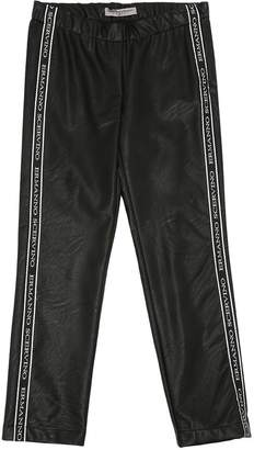 Ermanno Scervino Skinny Logo Bands Faux Leather Pants