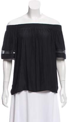 Ramy Brook Off-The-Shoulder Short Sleeve Top