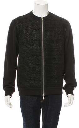 Givenchy Wool-Blend Zip-Front Sweater