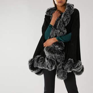 Black Faux Fur Cape - ShopStyle UK d3313d450