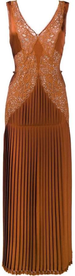 Stella McCartney pleated front lace dress