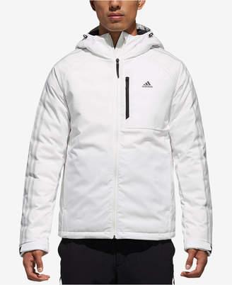 adidas Men Three-Stripe Hooded Down Jacket