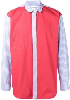 Comme des Garcons colour block panelled shirt