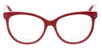 Jimmy Choo Cat-Eye Logo Eyeglasses