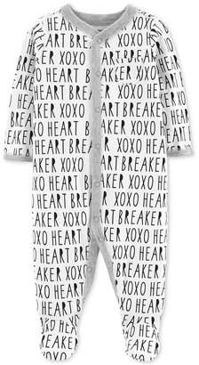 Carter's Baby Boys & Girls XOXO Words Footed Cotton Pajamas