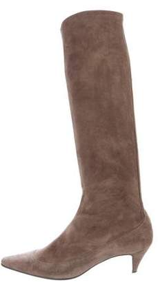 Christian Louboutin Suede Knee-High Boots