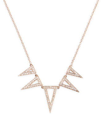 Ef Collection 5 Triangle Diamond Necklace