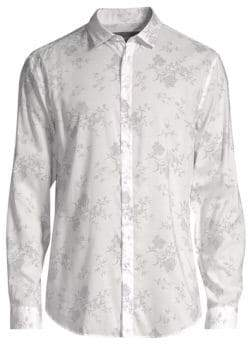 John Varvatos Slim-Fit Printed Button-Down Shirt