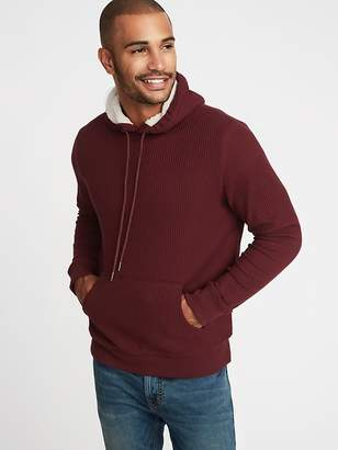 Old Navy Sherpa-Lined Thermal-Knit Pullover Hoodie for Men