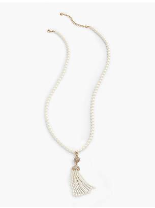 Talbots Pearl-Tassel Pendant Necklace