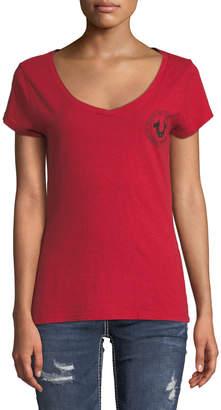 True Religion Logo Crest Cotton Tee