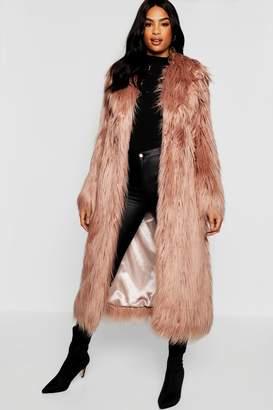 boohoo Tall Boutique Maxi Faux Fur Coat
