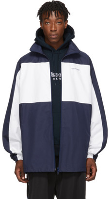 Balenciaga Navy and White Nautical Jacket