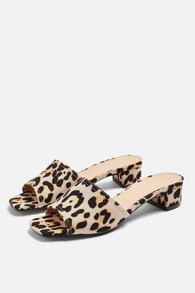 Topshop DIVA Leopard Mules