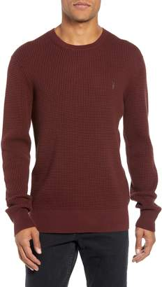 AllSaints Wells Crewneck Slim Fit Sweater